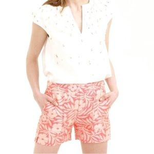 J.Crew Factory Floral Jaquard Pull On Shorts